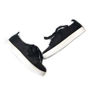 NWOT Black Satin Size 8.5 Jackson Lace-up Sneaker